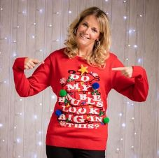 WOMEN'S 'DO MY BAUBLES' LIGHT JUMPER